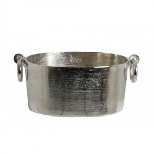 Sektkühler silber, Weinkühler, Maße 37x17 cm
