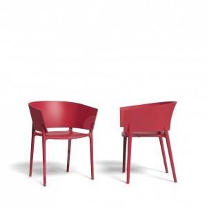 Gartenstuhl rot, Design-Stuhl rot