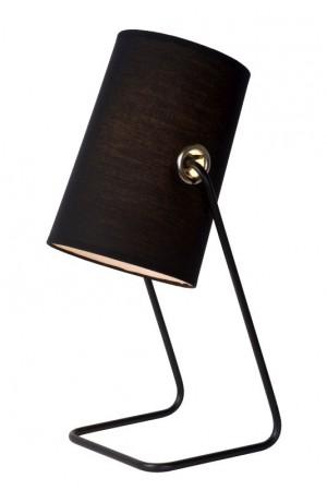 Tischlampe modern Design, Tischleuchte Schwarz, Höhe 48 cm