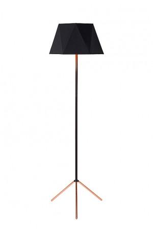 Stehleuchte schwarz, Stehlampe schwarz, Höhe 155 cm
