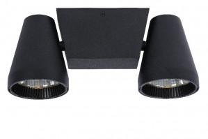 LED Deckenleuchte aus Metall schwarz, modern