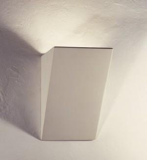 Wandleuchte weiß,  Gipsleuchte weiß, Wandlampe Gips weiß