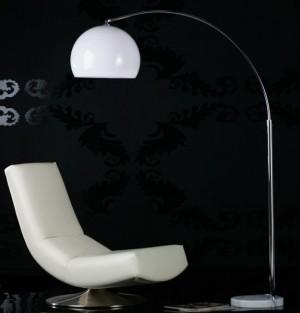 Moderne Bogenlampe, Stehleuchte mit einem Lampenschirm aus Acryl, Höhe 175-205 cm