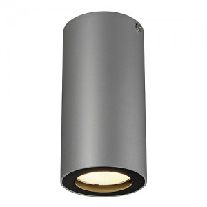 Deckenleuchte Aluminium silbergrau/ schwarz