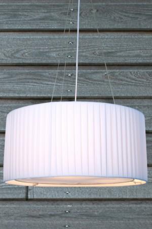 Moderne Pendelleuchte , 65 cm Durchmesser, Farbe: weiß