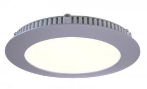 LED Deckeneinbaueuchte aus Aluminium, Glas, silber, weiß, 2700K
