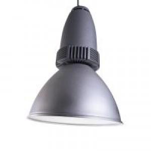 LED Pendelleuchte aus Aluminium, silber