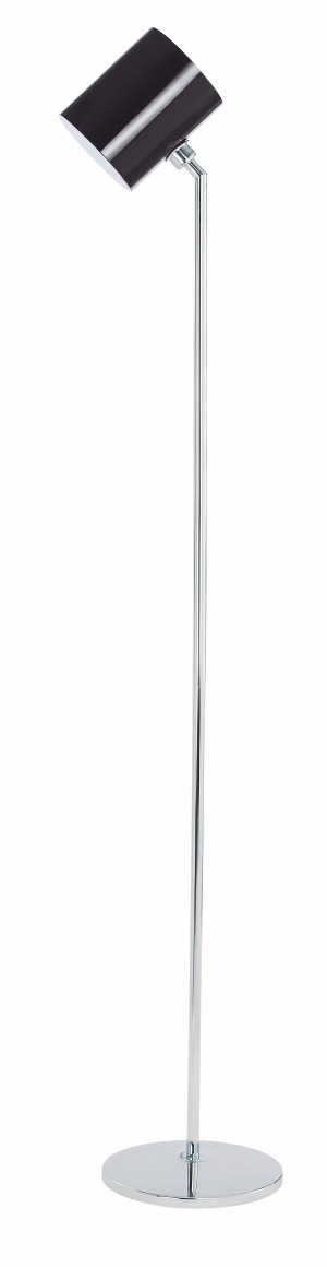 Design Stehleuchte Chrom, Glas, Höhe 125cm