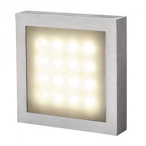 Wandleuchte Aluminium/ Kunststoff LED warmweiß