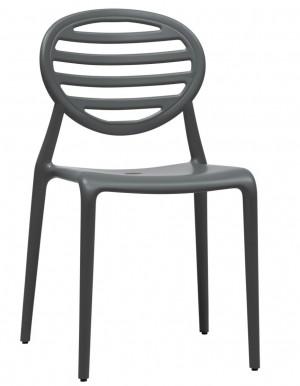 Design Stuhl Kunststoff modern anthrazit