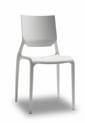 Design Stuhl Kunststoff leinen