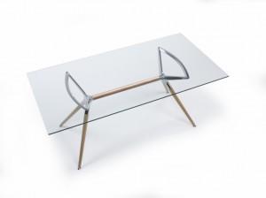 Design Tisch Holz Buche Metall 3 verschiedene Größen modern