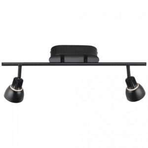 LED Moderne Deckenleuchte, Farbe schwarz, Ø 15 cm