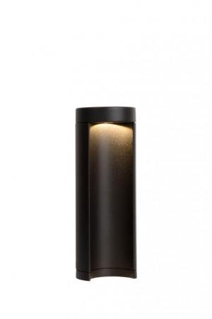 LED Außenstandleuchte schwarz, Standleuchte außen schwarz, Höhe 25 cm