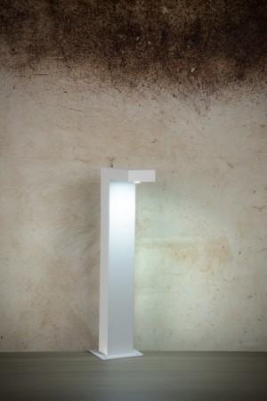 LED Außenstandleuchte weiß, Standleuchte außen weiß, Höhe 40 cm