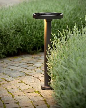 LED Gartenleuchte schwarz, Außenstandleuchte schwarz, LED Standleuchte außen schwarz, Höhe 50 cm