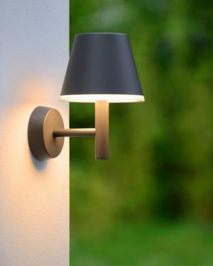 LED Wandleuchte schwarz, LED Außenwandleuchte schwarz, LED Außenleuchte Garten schwarz