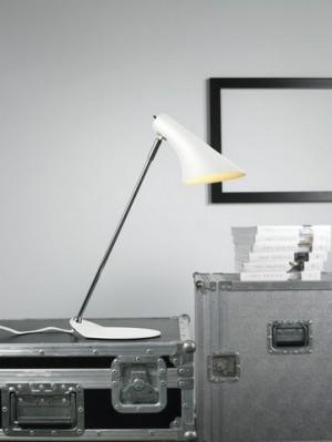 Tischleuchte Metall chrom weiß, modern