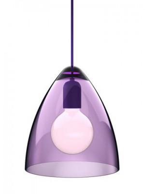 Pendelleuchte Acryl transparent violett