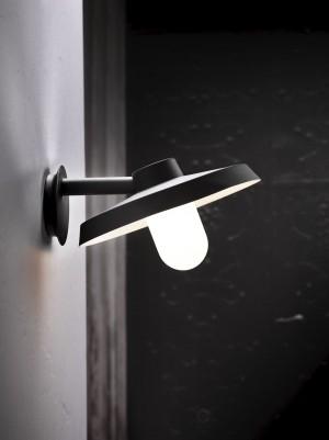 Wandleuchte Aluminium schwarz Glas Outdoor