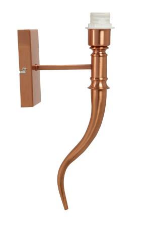 Wandleuchte Farbe Kupfer Höhe 40 cm, Wandlampe für Lampenschirme
