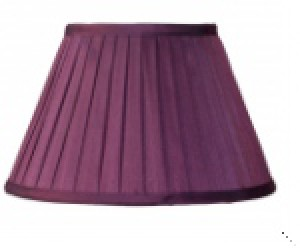 Lampenschirm aus Textil violett/ pflaume