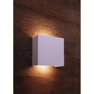 LED Gipswandleuchte aus Gips, weiß, überstreichbar
