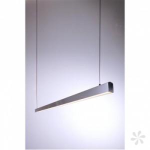 LED Pendelleuchte aus gebürstetem Aluminium, Glas, weiß, höhenverstellbar
