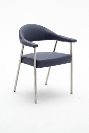 Konferenzstuhl schwarz gepolstert,  Stuhl Wartezimmer mit Armlehne in zwei Farben