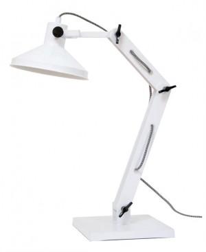 Design Tischleuchte, Tischlampe, Farbe weiss mit verstellbaren Arm