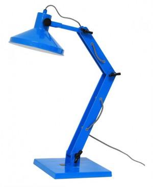 Design Tischleuchte, Tischlampe, Farbe blau mit verstellbaren Arm