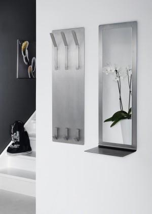 Spiegel auf einem Wandpaneel aus Edelsthal, moderner Spiegel mit eine Ablage,  Maße 100 x 36 cm