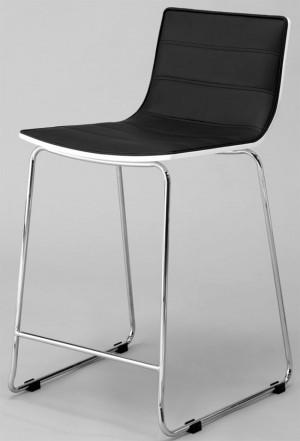 Barstuhl schwarz-weiß. Barhocker, Sitzhöhe 65 cm