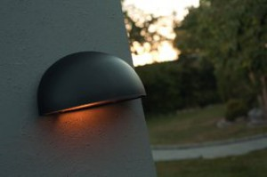 Wandleuchte Metall schwarz PVC Outdoor schlagfestes Material