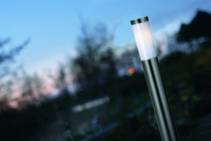 Stehleuchte Metall PVC rostfreier Edelstah Outdoor