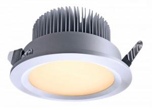 LED Deckeneinbaueuchte aus Aluminium, Glas, weiß, silber, Ø 100cm
