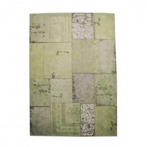 Teppich Patchwork grün, Größe 170 x 240 cm