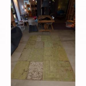 Teppich Patchwork Grün, Größe 200 x 300 cm