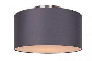 Deckenleuchte aus Metall, Baumwolle grau, modern, Ø 35 cm