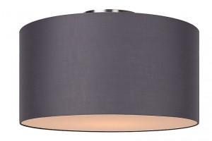 Deckenleuchte aus Metall, Baumwolle grau, modern, Ø 45 cm