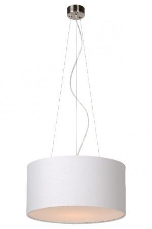 Pendelleuchte aus Metall, Baumwolle weiß, modern, Ø 40 cm