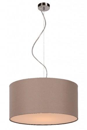 Pendelleuchte aus Metall, Baumwolle taupe, modern, Ø 40 cm