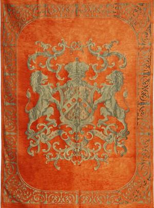 Decke, Plaid, Farbe orange, Größe 175 x 235 cm