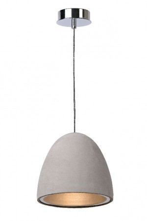 Pendelleuchte aus Beton in taupe, Design Stil, Ø 21 cm
