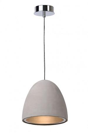 Pendelleuchte aus Beton in taupe, Design Stil, Ø 28 cm