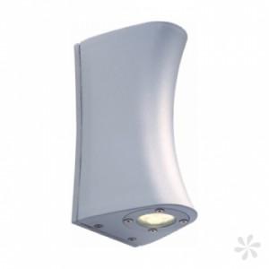 LED Wand-Außenleuchte, Outdoorleuchte Alu Druckguß, Farbe matt-silber
