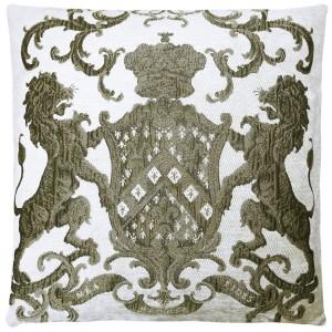 Dekokissen, Kissen, Farbe weiß-gold, Größe 55 x 55 cm