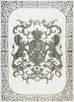 Decke, Plaid, Farbe weiß-gold, Größe 175 x 235 cm