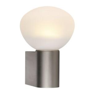 LED Moderne Badwandleuchte, Farbe Stahl matt, weiß, Ø 12,5 cm