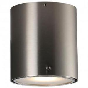 LED Moderne Badwandleuchte, Deckenleuchte, Farbe Stahl matt/ anthrazit, Ø 10,2 cm